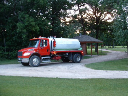 septic water and vacuum truck